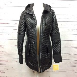 NWT [Michael MK] Quilted Puffer Winter Coat, Black